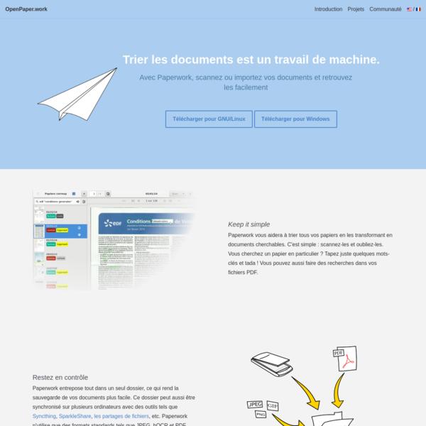 OpenPaper.work - Paperwork - La gestion de documents rendue rapide et facile