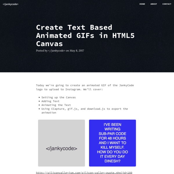 Create Text Based Animated GIFs in HTML5 Canvas -