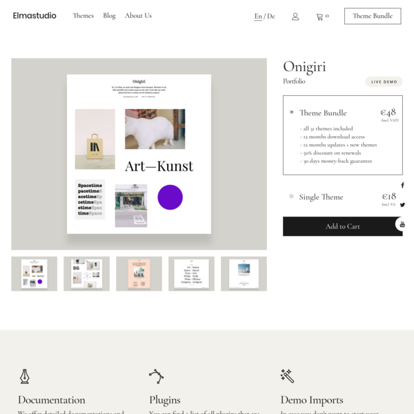 Onigiri WordPress Portfolio Theme by Elmastudio | Elmastudio