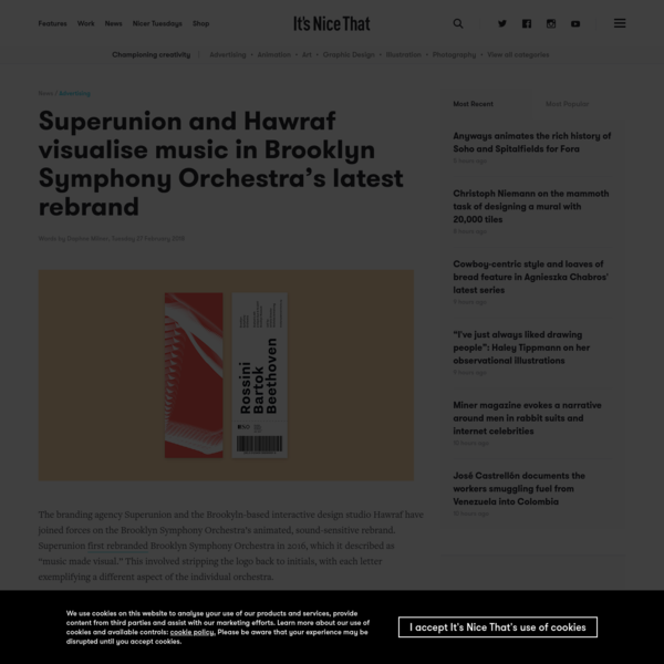 Superunion and Hawraf visualise music in Brooklyn Symphony Orchestra's latest rebrand