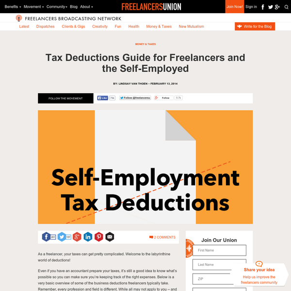 Tax Deductions Guide for Freelancers and the Self-Employed
