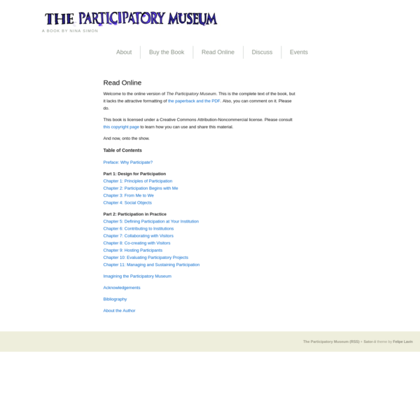 The Participatory Museum