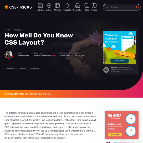 How Well Do You Know CSS Layout?   CSS-Tricks