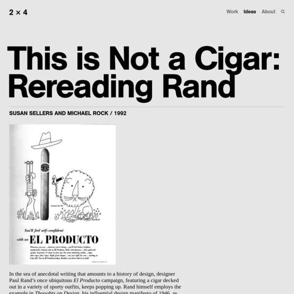 This is Not a Cigar: Rereading Rand — 2x4