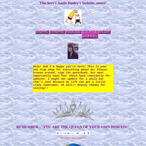 Annie Donley's Website!