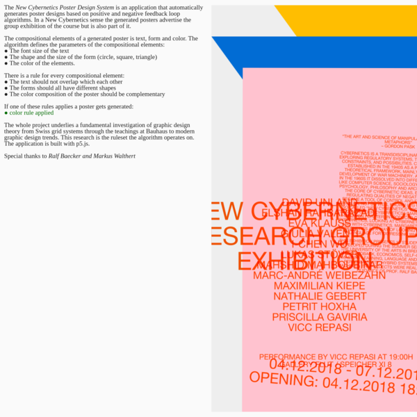 New Cybernetics Poster Design System