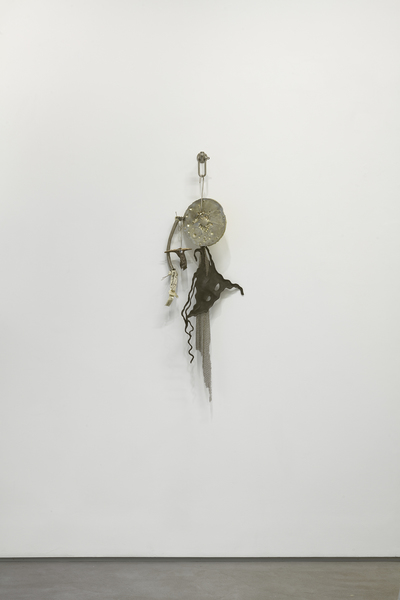 2019.01 Elaine Cameron-Weir: CONDO London, His Master's Voice (such a medal, when given in ceremony is placed high around the neck, A Dog's Collar). Attempts to keep conversation with it rather like holding up the head of a corpse, 2018