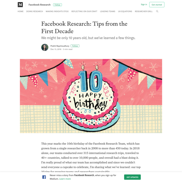 Facebook Research: Tips from the First Decade - Facebook Research - Medium