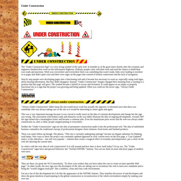 Olia Lialina. A Vernacular web. Under Construction