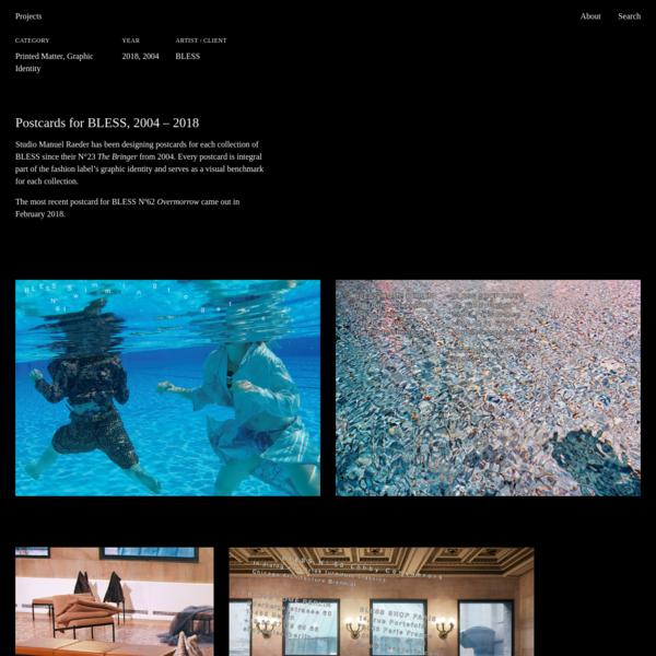 BLESS Postcards - Studio Manuel Raeder