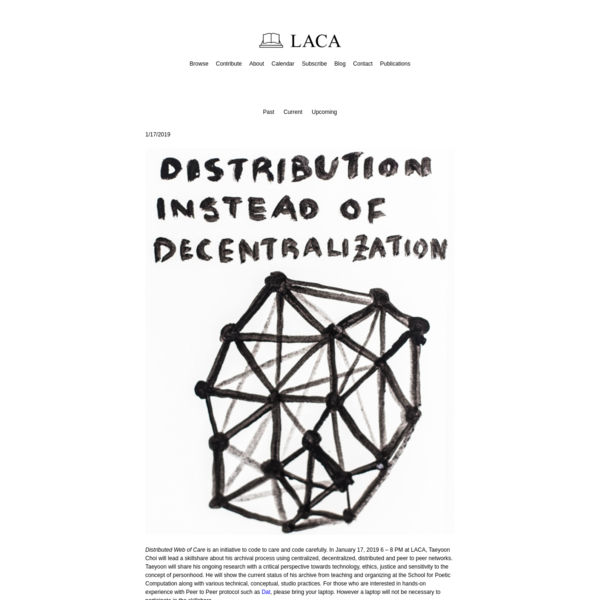 Distributed Archive Skillshare | LACA
