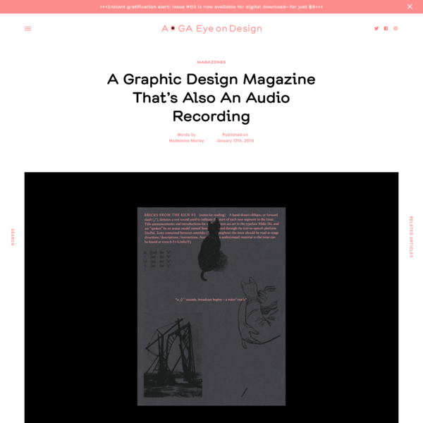 A Graphic Design Magazine That's Also An Audio Recording | | Eye on Design