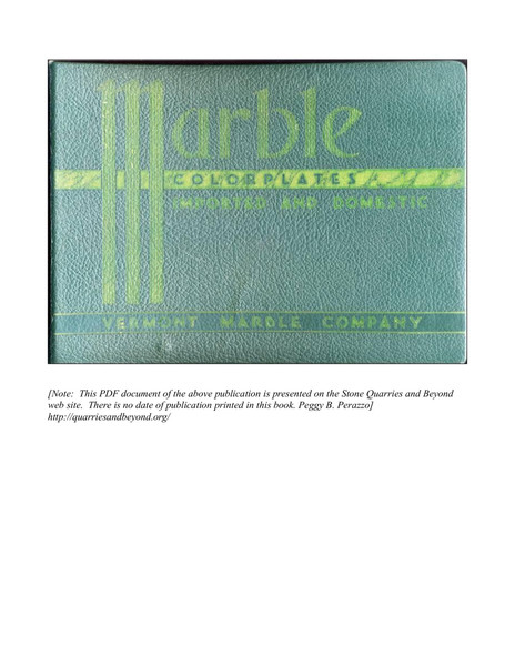 Marble Colorplates: Imported and Domestic