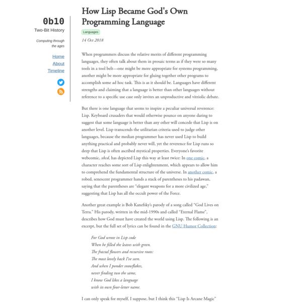 How Lisp Became God's Own Programming Language