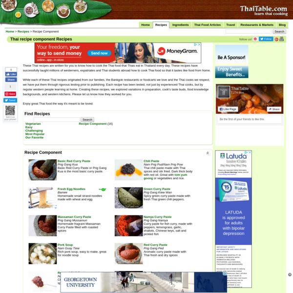 Thai recipe component Recipes - ThaiTable.com