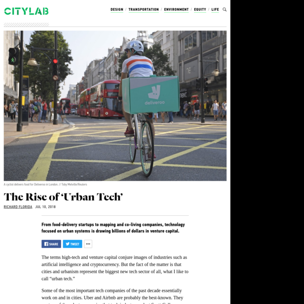 The Rise of 'Urban Tech'