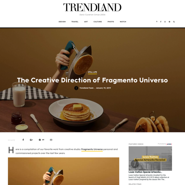 Here is a compilation of our favorite work from creative studio: Fragmento Universo personal and commissioned projects over the last few years. http://fragmentouniverso.com