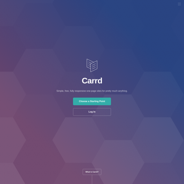 Carrd - Simple, free, fully responsive one-page sites for pretty much anything