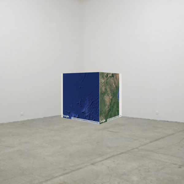 Google Maps as a Sculpture, Jan Robert Leegte, 2013 - Part of the Cobra to Contemporary Collection of Hugo and Carla Brown