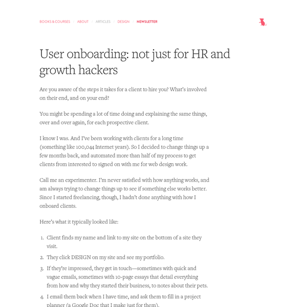 User onboarding: not just for HR and growth hackers