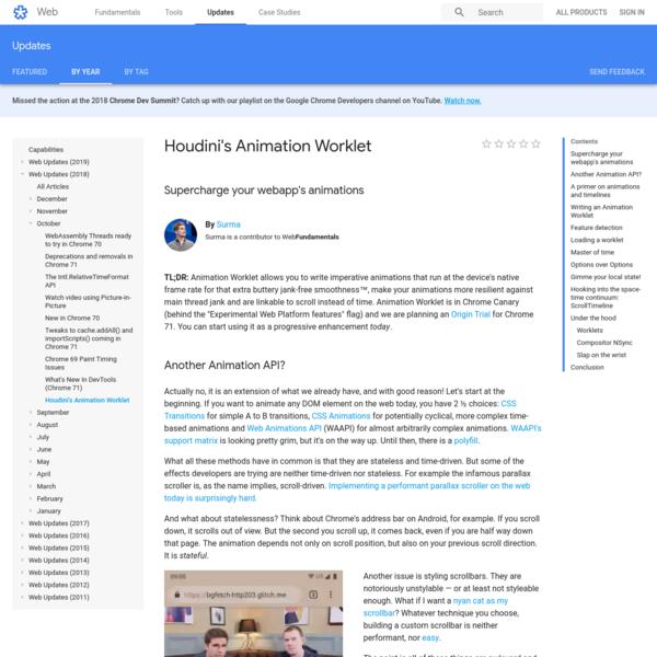 Houdini's Animation Worklet | Web | Google Developers