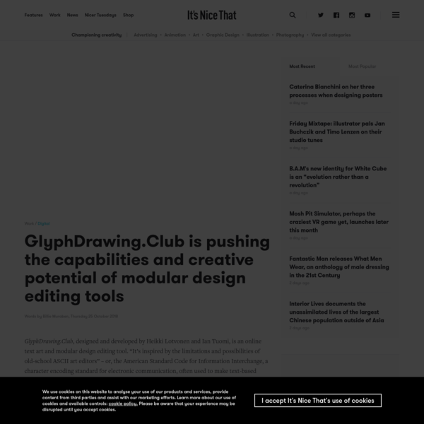 GlyphDrawing.Club is pushing the capabilities and creative potential of modular design editing tools