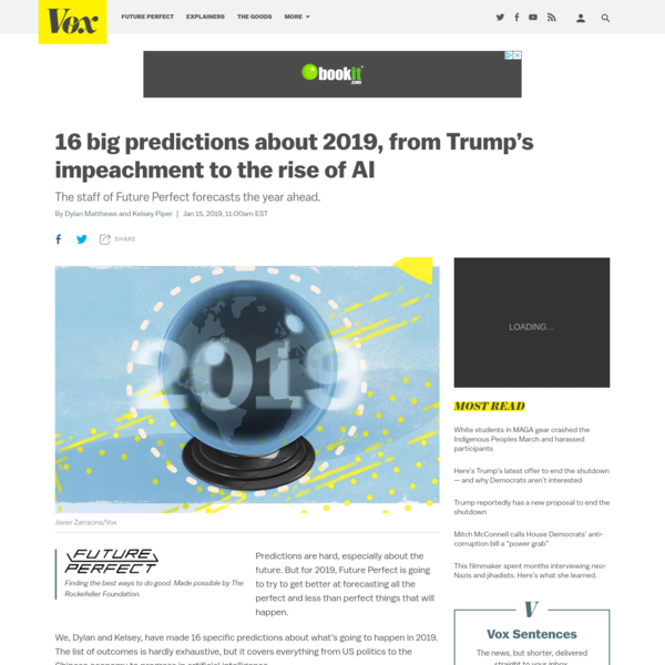 16 big predictions about 2019, from Trump's impeachment to the rise of AI