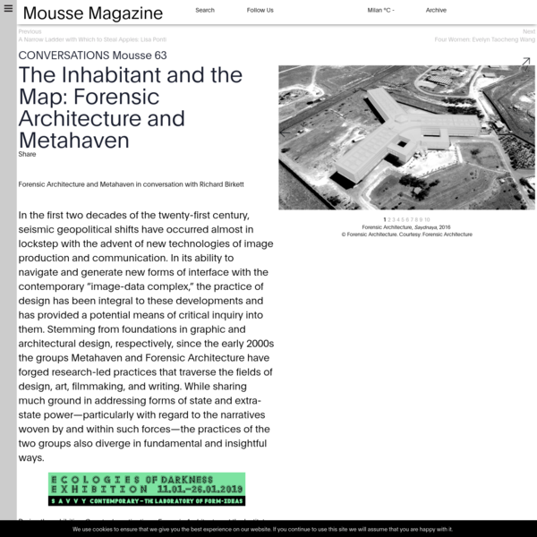 The Inhabitant and the Map: Forensic Architecture and Metahaven