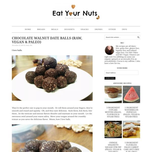 Chocolate Walnut Date Balls (Raw, Vegan & Paleo) - Eat Your Nuts