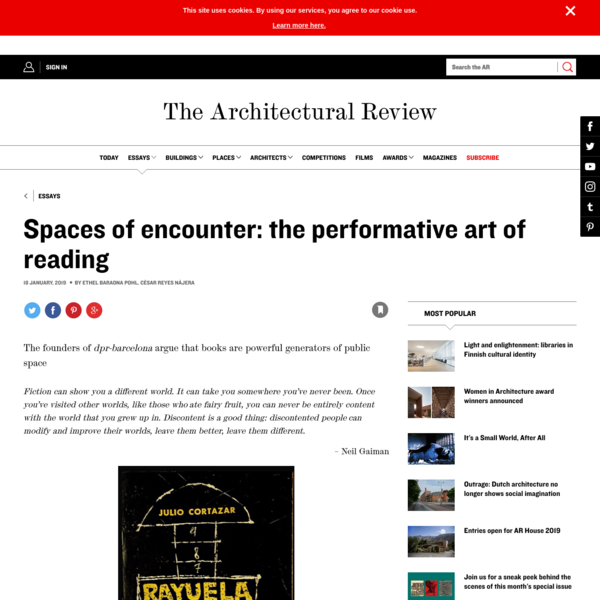 Spaces of encounter: the performative art of reading