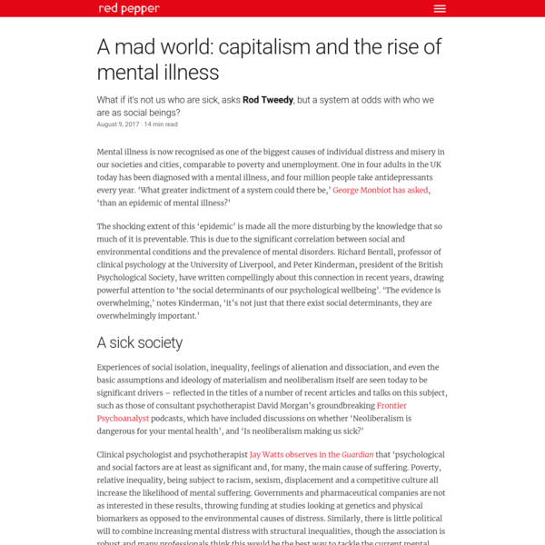 A mad world: capitalism and the rise of mental illness