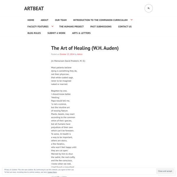 The Art of Healing (W.H. Auden)