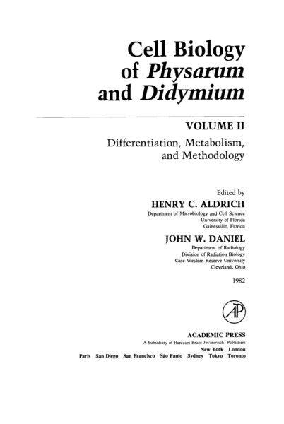 cell-biology-henery-aldrich-eds.-cell-biology-of-physarum-and-didymium.-differentiation-metabolism-and-methodology-academic-...