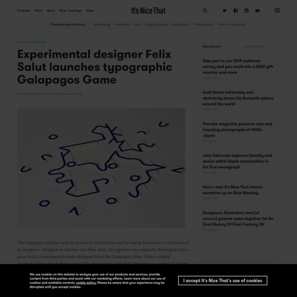 Experimental designer Felix Salut launches typographic Galapagos Game