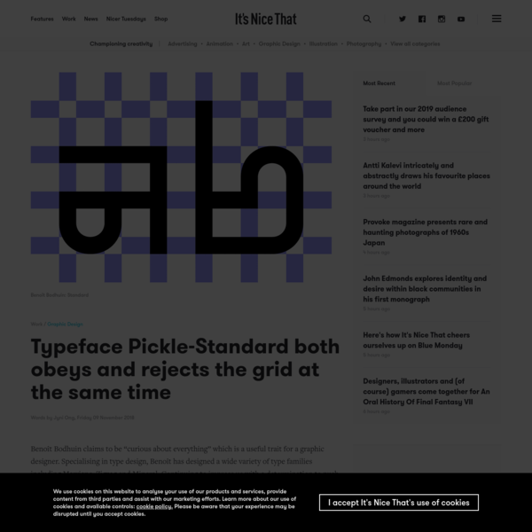 Typeface Pickle-Standard both obeys and rejects the grid at the same time