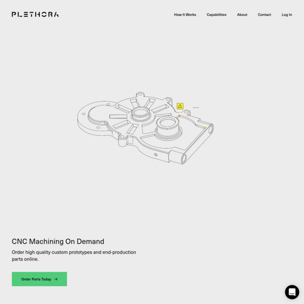 Plethora offers precision CNC machining on demand for rapid prototyping components. Learn more about our milling and turning capabilities, and submit your designs online today to receive an instant and guaranteed quote for your custom parts. Delivery in 1 to 3 days.