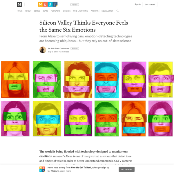 Silicon Valley Thinks Everyone Feels the Same Six Emotions