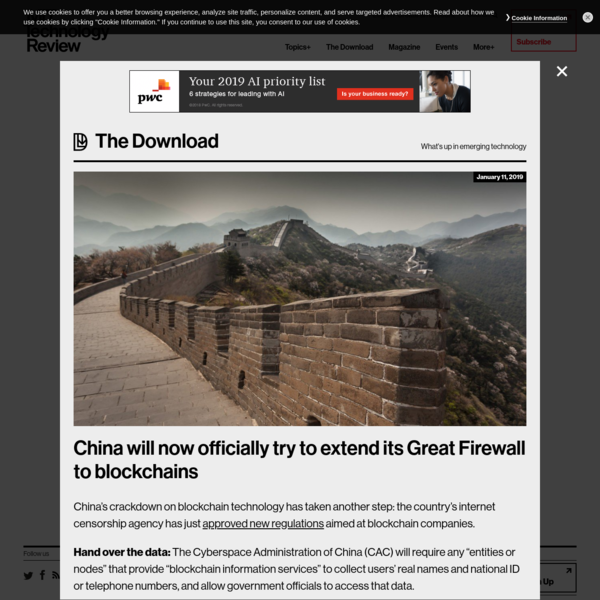 China will now officially try to extend its Great Firewall to blockchains