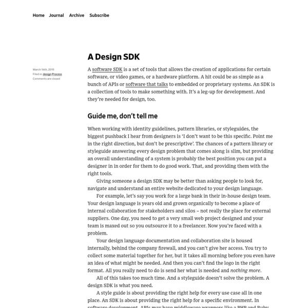 A Design SDK