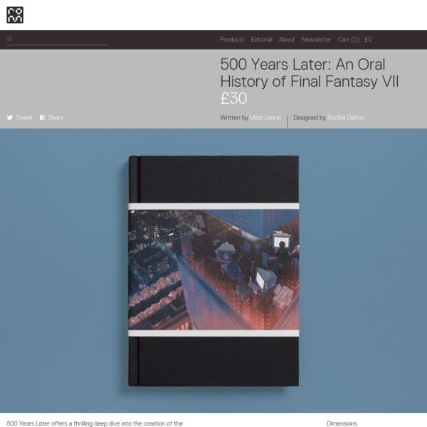 500 Years Later: An Oral History of Final Fantasy VII
