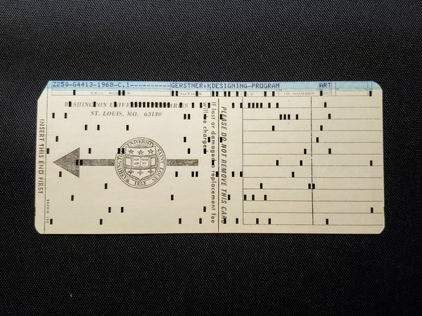 library punch card