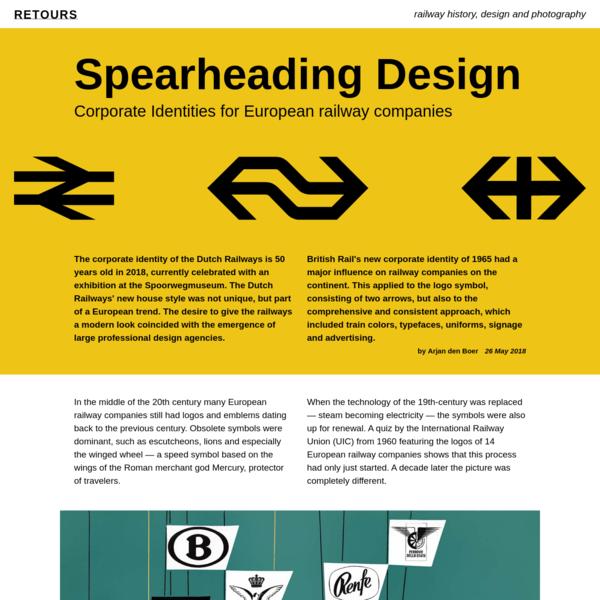 Spearheading Design. Corporate Identities for European railway companies