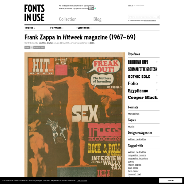 Frank Zappa in Hitweek magazine (1967-69)