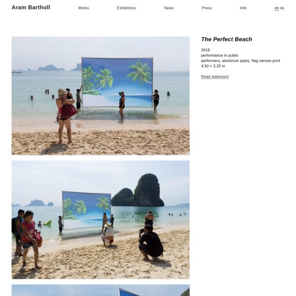 The Perfect Beach - Aram Bartholl