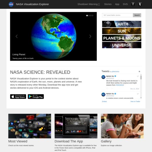 Home - NASA Visualization Explorer