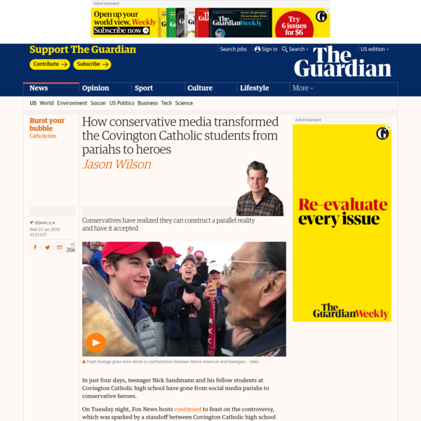 How conservative media transformed the Covington Catholic students from pariahs to heroes