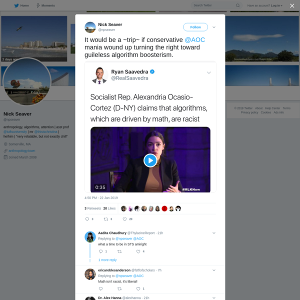 Nick Seaver on Twitter