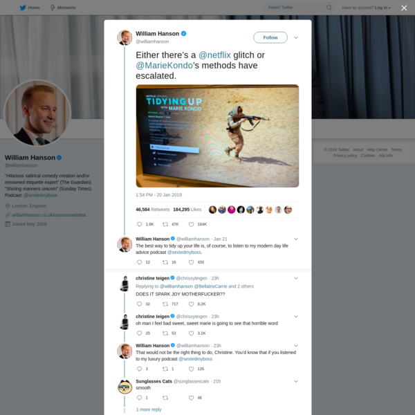 William Hanson on Twitter