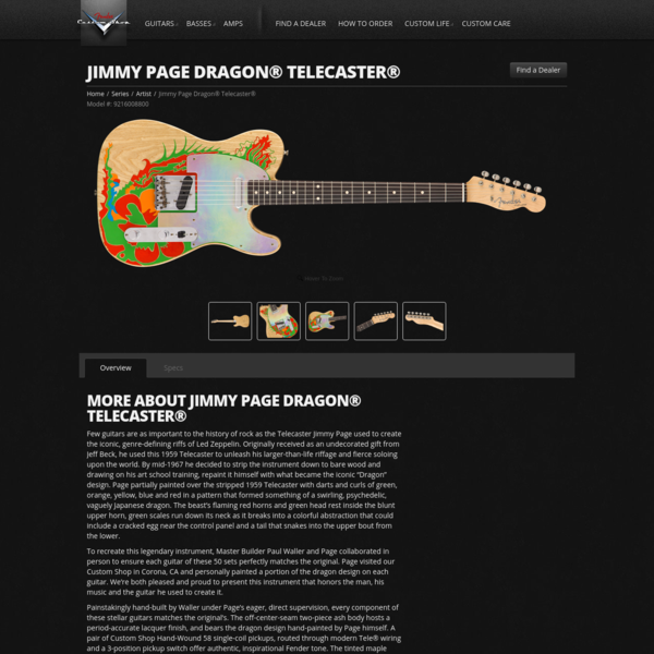 Jimmy Page Dragon® Telecaster® | Telecaster Electric Guitars | Fender® Guitars