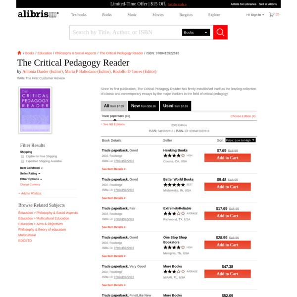 The Critical Pedagogy Reader